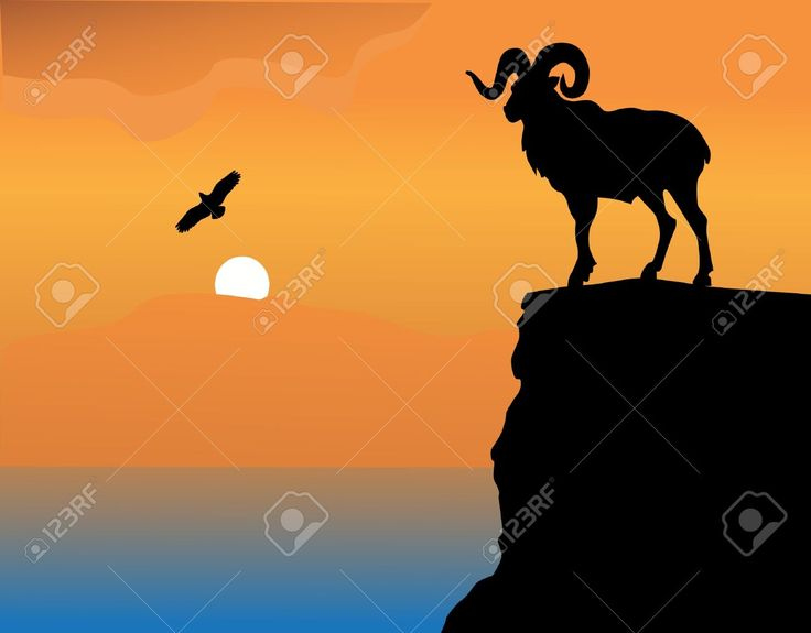 Goat Rock Stock Vector Illustration And Royalty Free Goat Rock Clipart