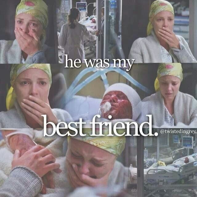 Day 28- A picture that makes you sad. I loved Izzie and George's friendship..