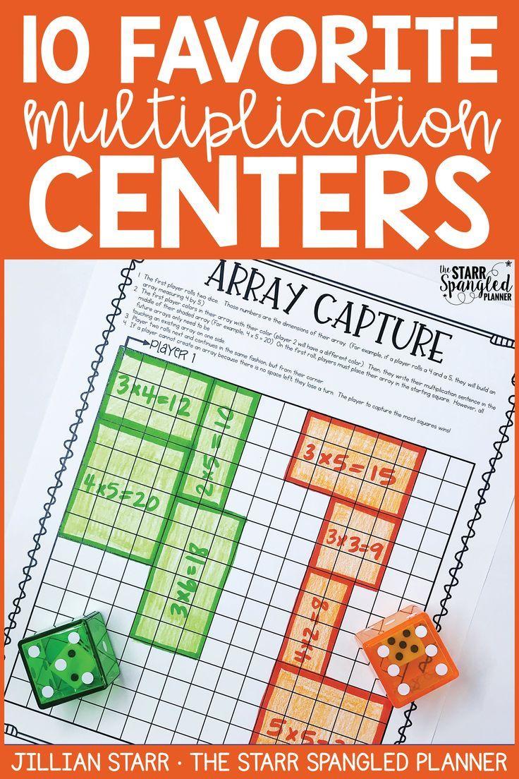 10 Multiplication Math Center Games Activities Thirdgradetroop