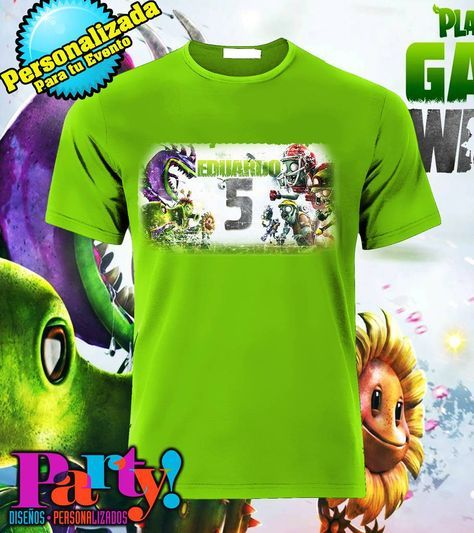 Playera Personalizada Plantas vs Zombies - Jinx , playera, fiesta, personalizada, evento, ropa, camiseta, cumpleaños, programa, niños, trajes