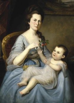 Ann Marsh and child by Charles Willson Peale, 1785: