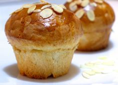 Tsoureki Muffins!  Tsoureki is a very popular Greek sweet bread, whose texture resembles a brioche, only it tastes so much better!