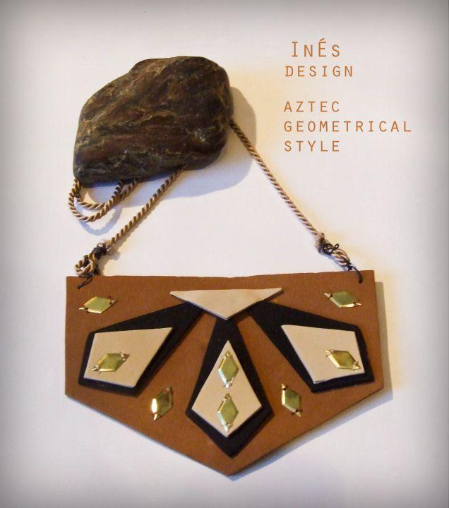 Azték geometrikus nyakék by http://www.breslo.hu/Ines/shop