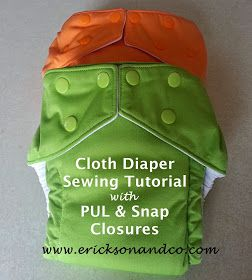 Pocket cloth diaper pattern and instructions @Amy Johnson