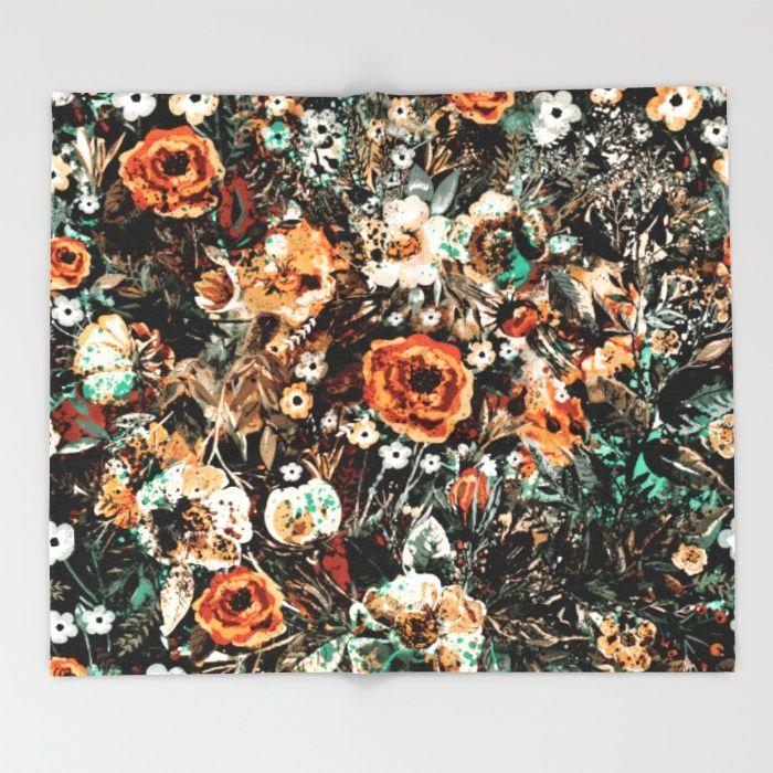 SPACE GARDEN IV Throw #Blanket #floral #women #fashion #homedecor #fashionblogger #iphone #bag #digital #wallart