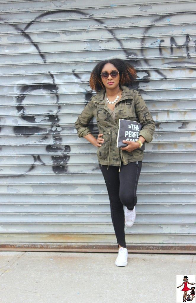 Styling Military Camouflage Jacket - Rattles & Heels