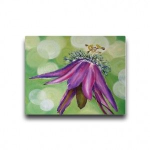 Opened Passion Flower by suzannenichols  This gorgeous image of an opened out passion flower is taken from an original acrylic painting on canvas by Suzie Nichols.