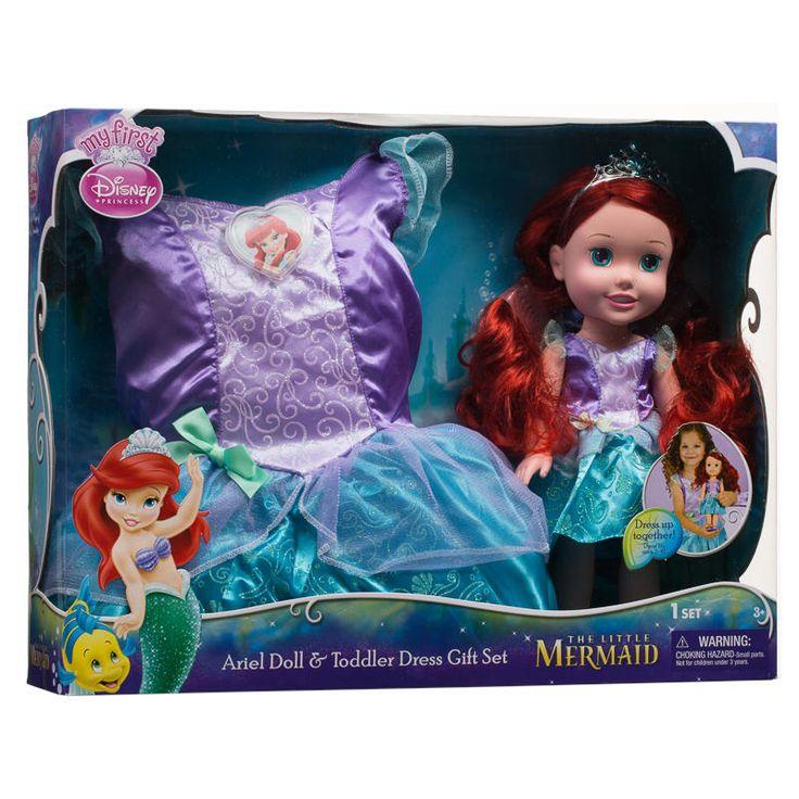 Poupée Ariel et robe princesse. 54.99$ Achetez-le info@laboiteasurprisesdenicolas.ca 450-240-0007