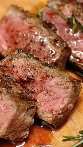 "Rosemary Garlic Butter Steaks.....mmm, you had me at ""Rosemary Garlic Butter Steaks"""