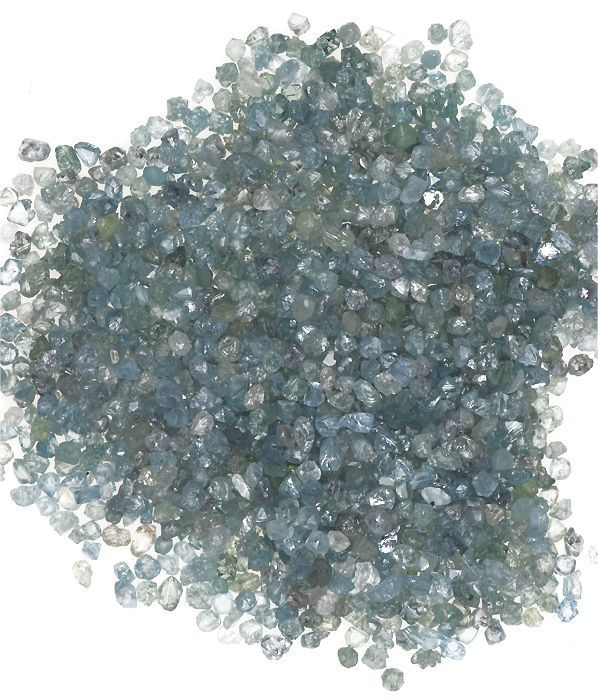 5.00 Ct New Natural Rough Loose Sky Blue Color Small Size Sparking Diamonds Lot