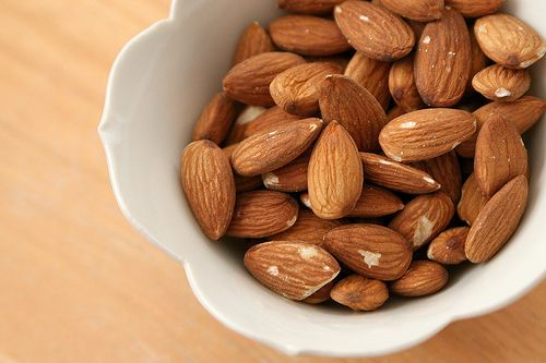 Almonds ~ such an easy little snack