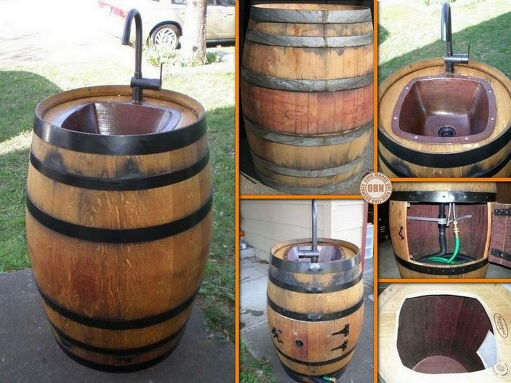 diy wine barrel sink alpine wine design outdoor