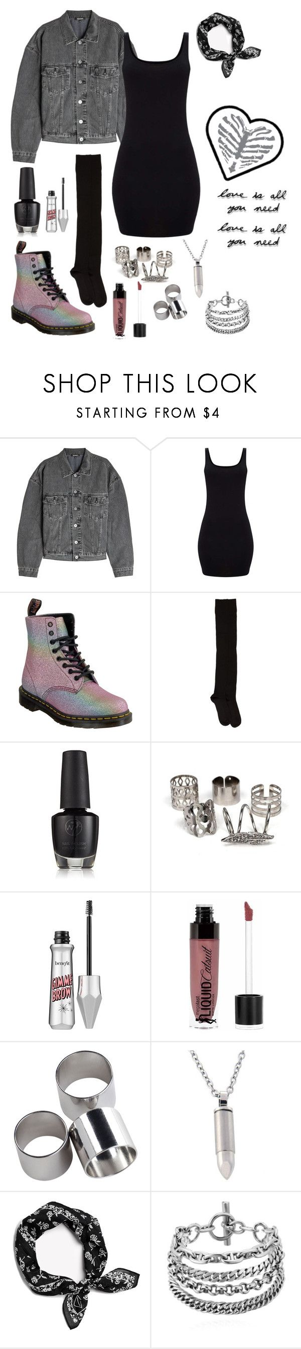 """""""Ride at Dusk"""" by fivetails ❤ liked on Polyvore featuring Yeezy by Kanye West, Dr. Martens, A Détacher, Wet n Wild, MTWTFSS Weekday, Vale and Umbra"""