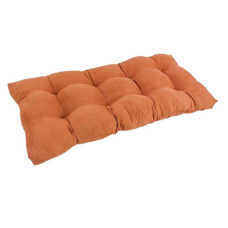 Blazing Needles Microsuede Indoor Bench Cushion Spice - 94006-LS-MS-SP