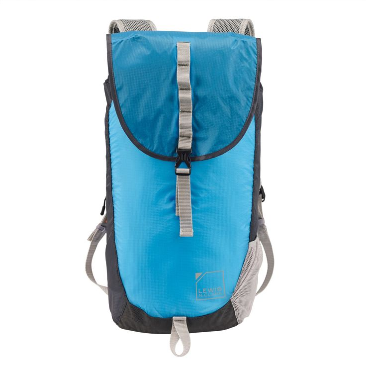 Lewis N. Clark ElectroLight Day Pack - Rfid Protected (Bright Blue/Charcoal Gray), Lt. Teal