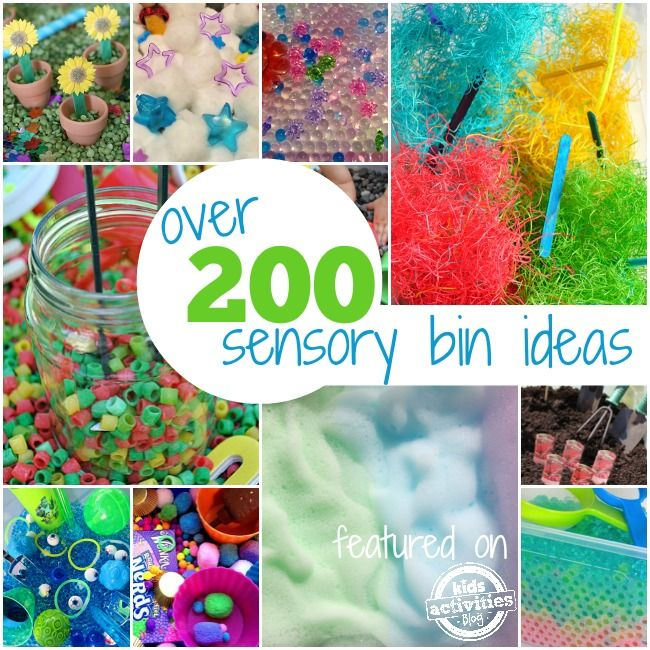 Check out the over 200 sensory bins from some of the best Kid Bloggers around!