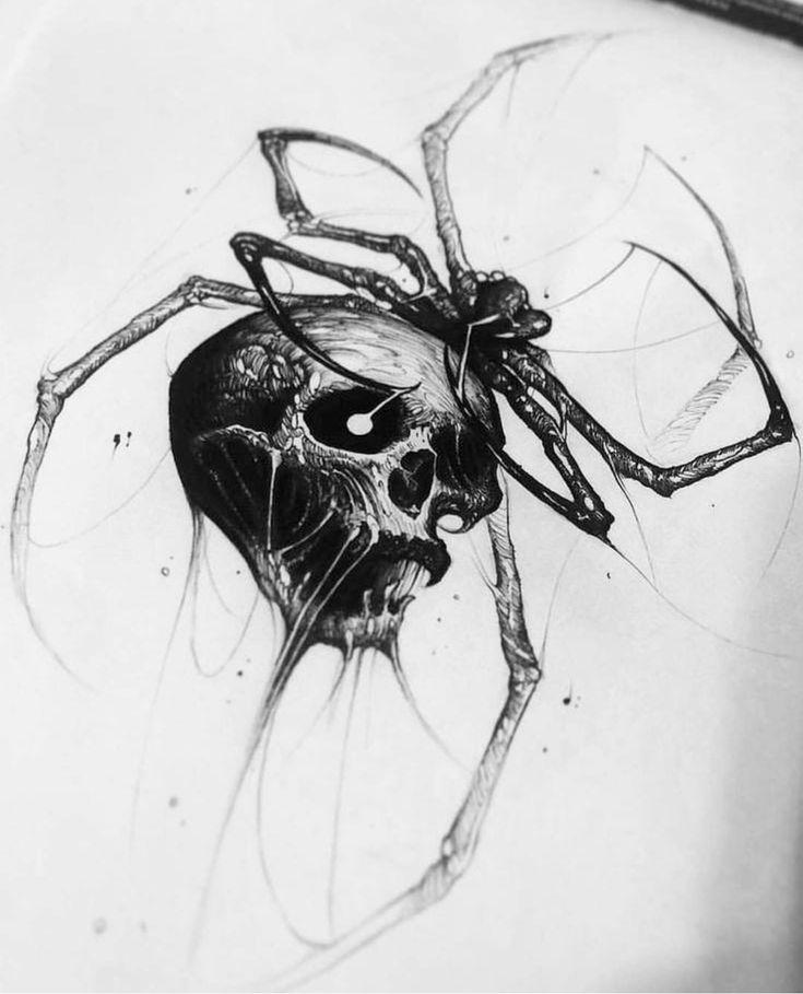 Череп паук картинки
