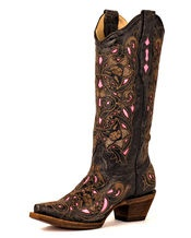 The one boot that I will wear EVERY DAY this fall...Corral http://www.countryoutfitter.com/products/27493-womens-distressed-black-lizard-inlay-boot-c2108 #cowgirlboots
