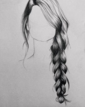 How to draw hair with pencil (drawing tips)… by penelope