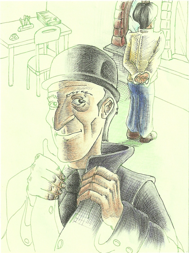 "My illustration of""Bartleby the scrivaner"" by Hermann Melville"