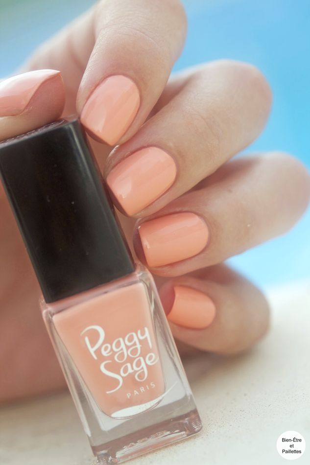 Fruity Peach Peggy Sage collection Mini Vernis Pop Your Nails