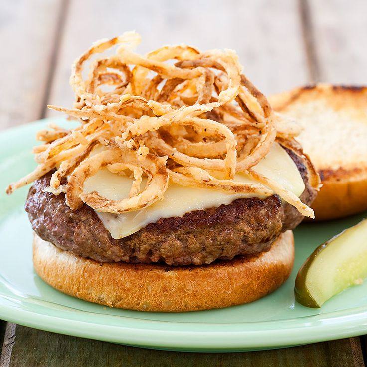 Indoor Burgers With Crispy Onions Recipe Cooks Country