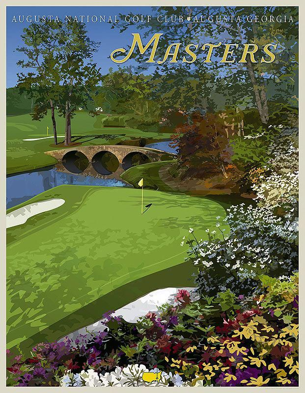 The Augusta National Golf Club 12th Hole Vintage Poster