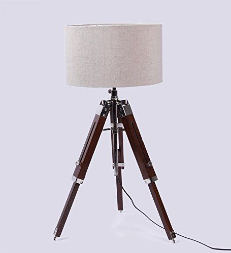 Table Lamp Nauticalmart Vintage Clic With Wooden Tripod Stand