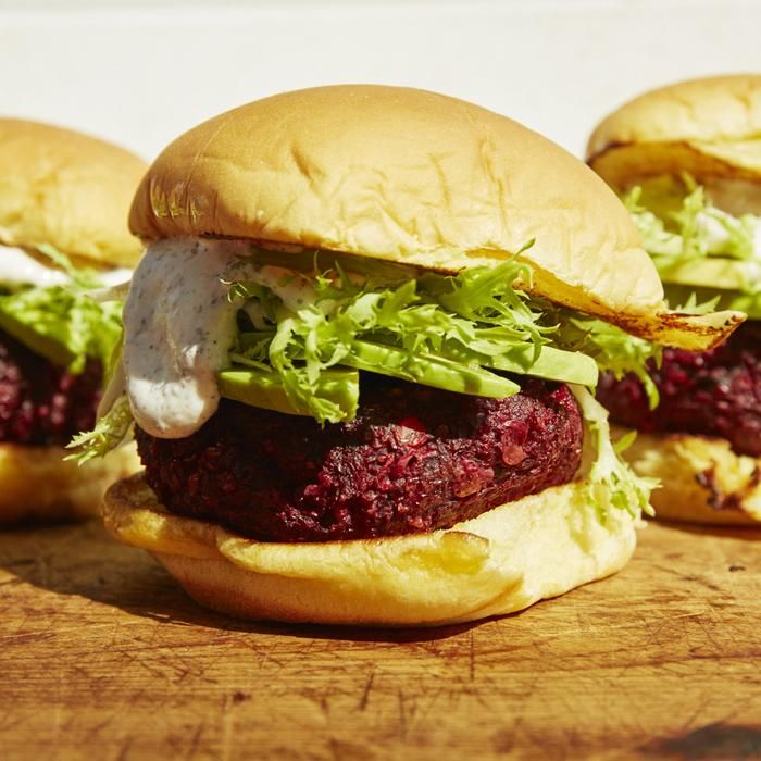 Ultimate Vegetarian Burger. This beetroot patty burger will make your forget your bacon craving.