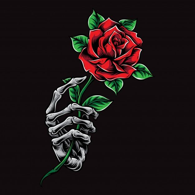 Skeleton Hand Holding Rose in 2020 | Hand holding rose, Skull wallpaper, Rose drawing