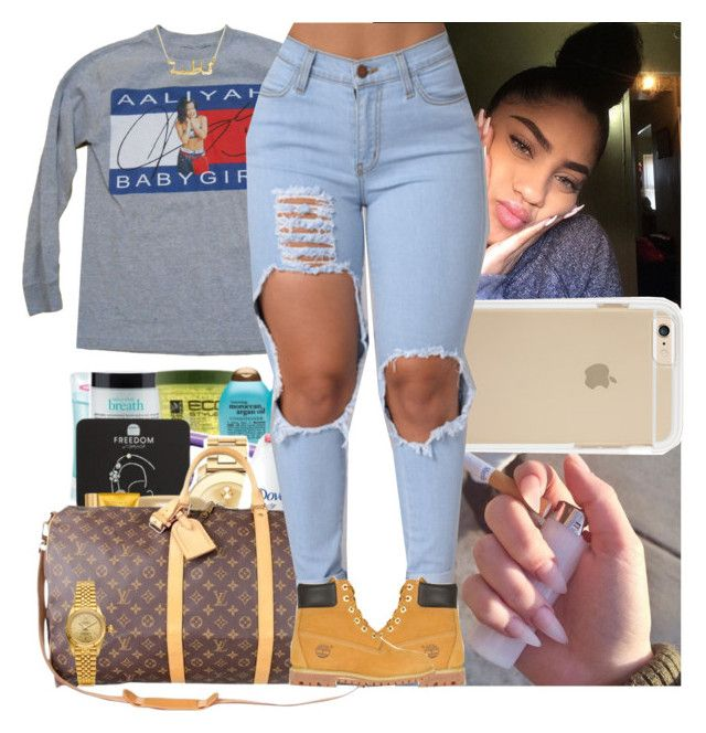 """""""Untitled #679"""" by msixo ❤ liked on Polyvore featuring Tommy Hilfiger, Louis Vuitton, Rolex and Timberland"""