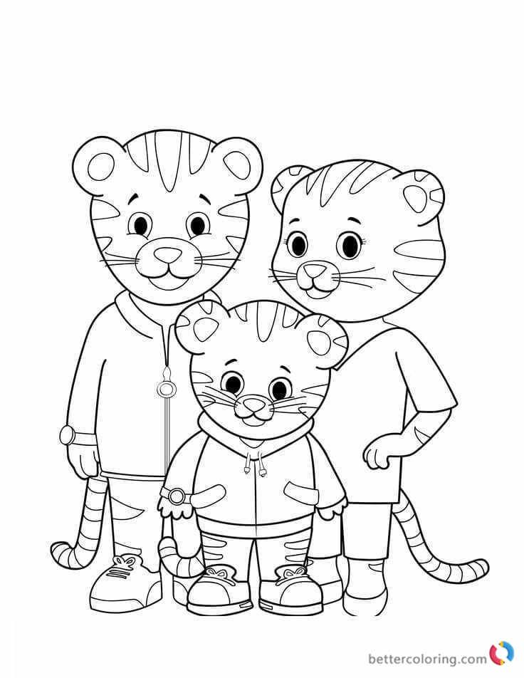 Free Printable Daniel The Tiger Coloring Pages For Kids