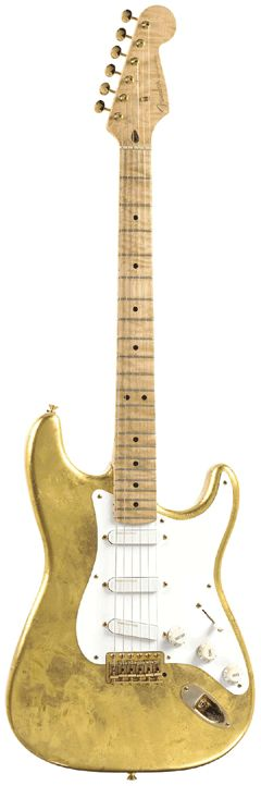 erci claptons guitars | Eric Clapton's Gold Leaf Stratocaster
