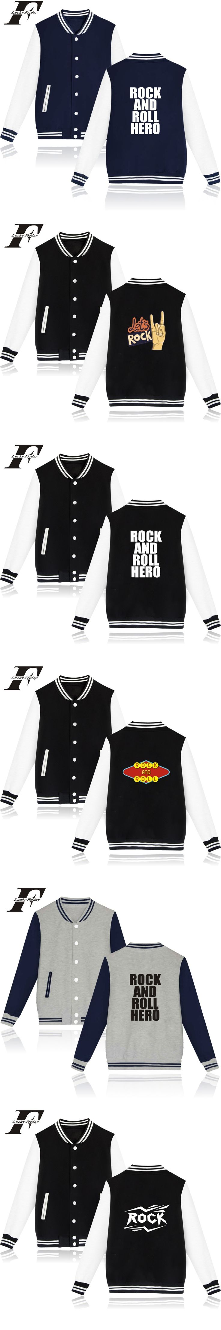 winter jacket men bomber jacket Brand Rock And Roll Hero College Baseball Jackets men jaqueta masculina fitness jacket roupas