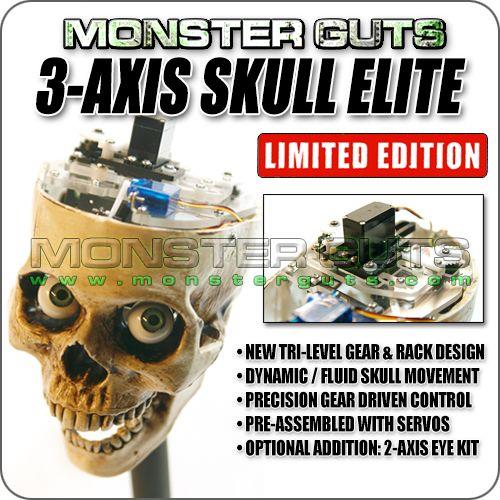 Monster Guts: 3-Axis Skull Elite - Limited Edition  #halloween #prop #monster #propbuilding #tutorial #diy #yardhaunt #hauntedhouse #spooky #creepy #props