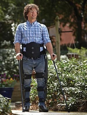 The mobility benefits of Parker Hannifin's Indego exoskeleton on 54 individuals with spinal cord injuries will be studied over the next four years.   (Source: Parker Hannifin Corp.)