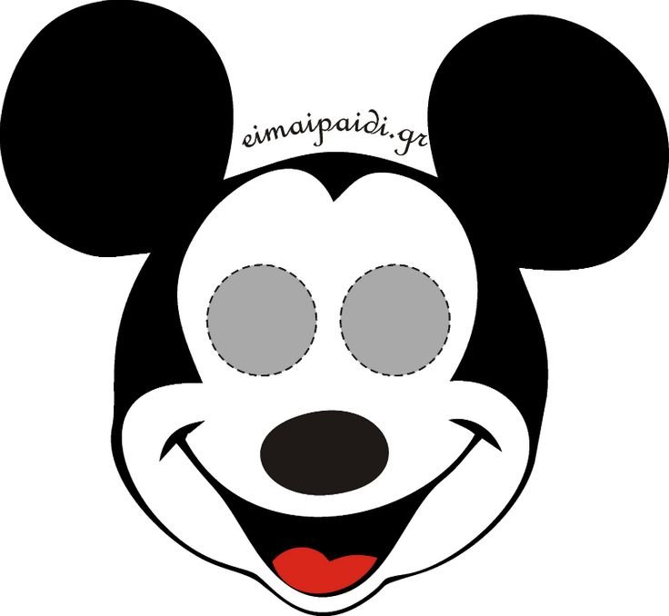 Mickey printables pinterest printable masks for Printable mouse mask template