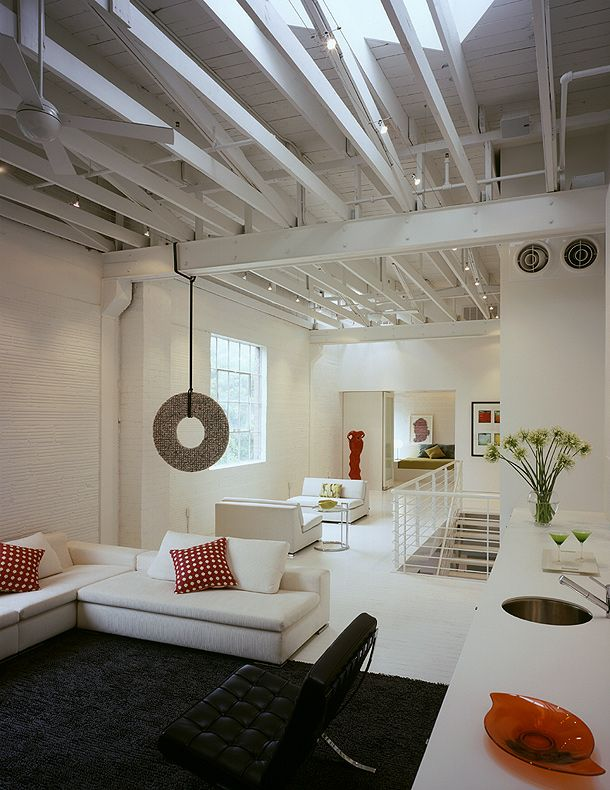Loft en blanco para un coleccionista de arte, por Poteet Architects (Loft for Art Collector)