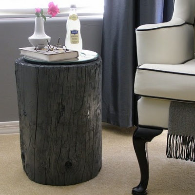 tree stump side table: Idea, Tree Stumps, End Tables, Wood Side Tables, Stumps Side, Stumps Tables, Trees Stumps, Diy Projects, Wood Stumps