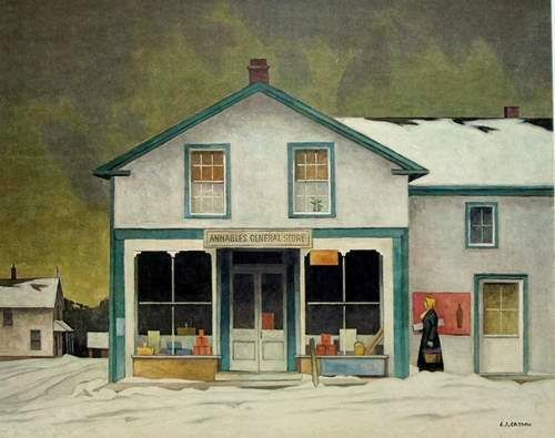 "A.J. Casson (Canadian, 1898 – 1992) Group of Seven ~ ""Annables General Store"""