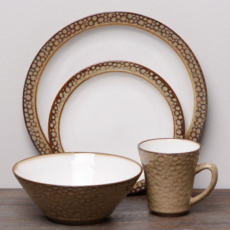sango facets gold white 16piece dinnerware set by sango