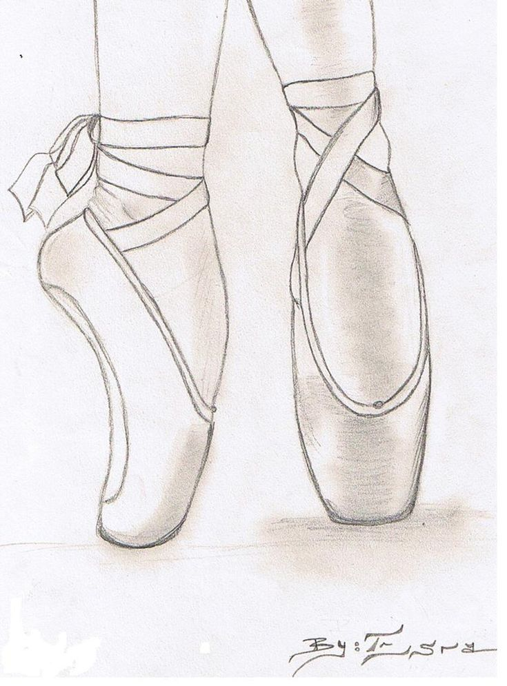 how to draw a ballerina shoe Google Search (With images