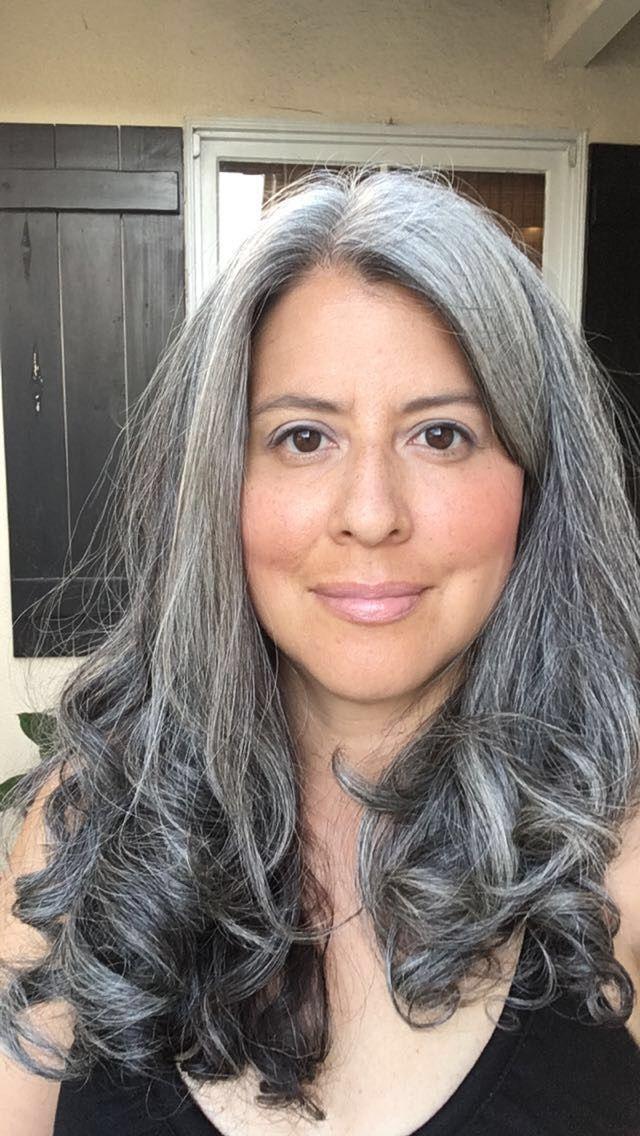 Salt And Pepper Gray In 2019 Grey Hair Long Gray Hair Hair