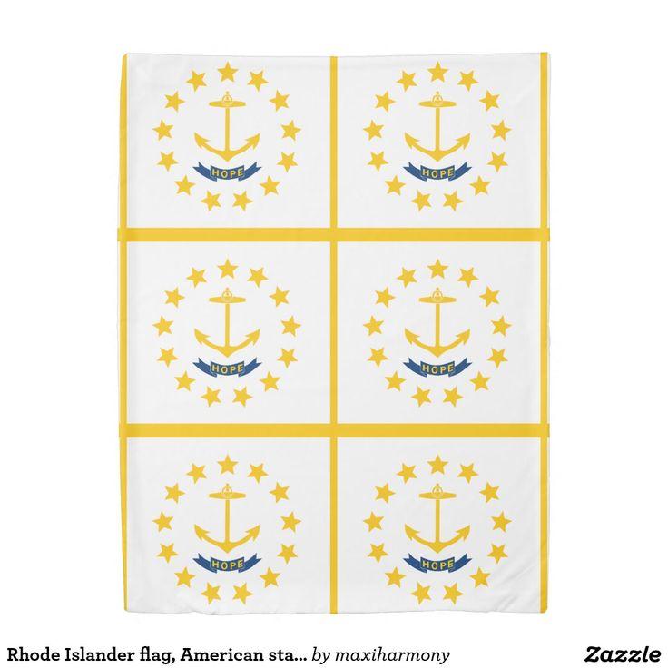 Rhode Islander flag, American state flag Duvet Cover