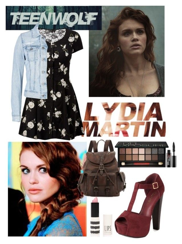 """""""Lydia Martin"""" by waterlilly312 ❤ liked on Polyvore featuring AG Adriano Goldschmied, Frye, Topshop, Smashbox, TeenWolf, LydiaMartin, tw, banshee and LoseYourMind"""