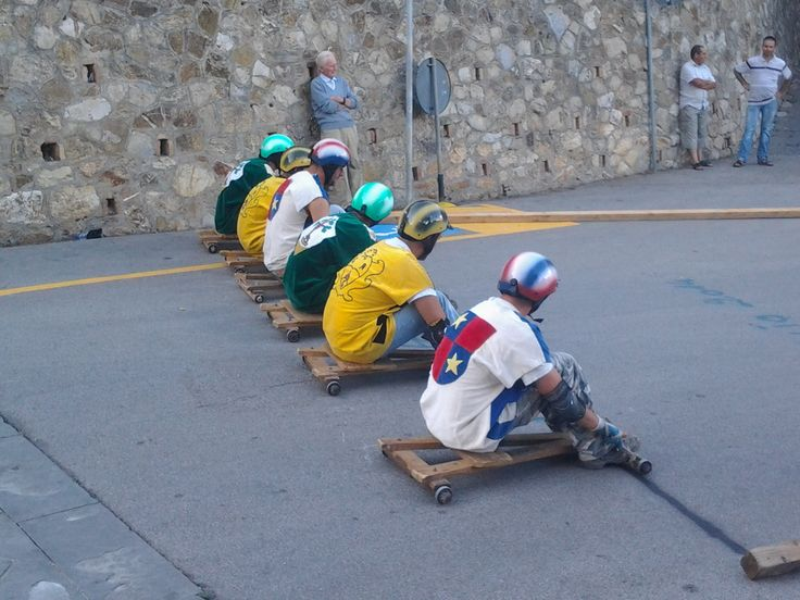 Palio of Carretti (wooden carts) in Civitella Marittima. Every year Palio takes place in August
