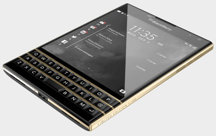 limited gold blackberry passport combines business with chic style - designboom | architecture
