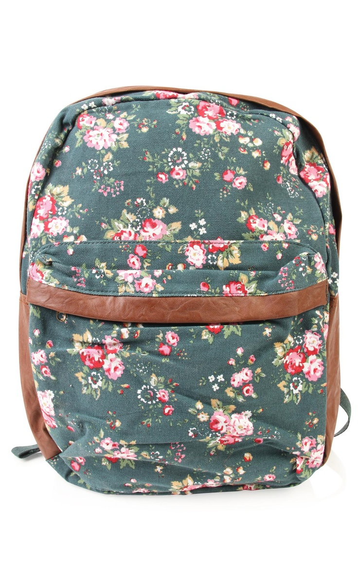 Deb Shops #floral print #backpack