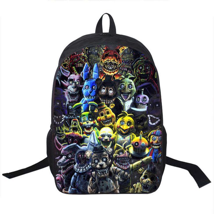 Five Nights Freddys Backpack For Teen Bonnie Fazbear Foxy Freddy Chica Backpack Boys Girls School Bags Kids Bags Daily Backpacks