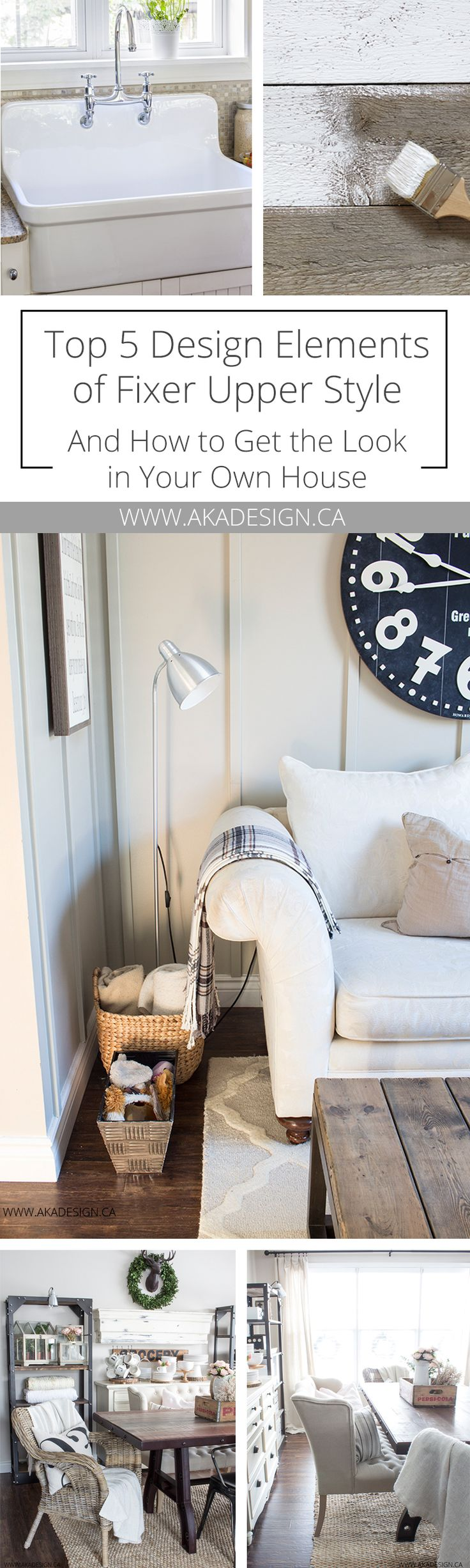 Top 5 Design Elements of Fixer Upper Style and How to Get the Look in Your Own House   | Farmhouse Style